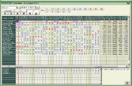 Prodotti pianificazione turni di geocon for Software di pianificazione del garage